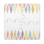 Fondo diseñado de la acuarela posavasos de puzzle