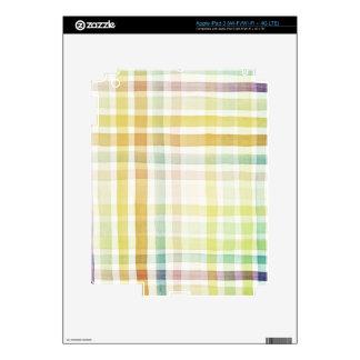 Fondo diseñado del arte de la acuarela, textura 2 iPad 3 skins
