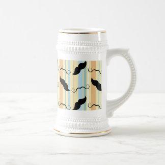 Fondo divertido del bigote taza de café