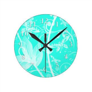fondo dragonlfy del trullo suave reloj de pared