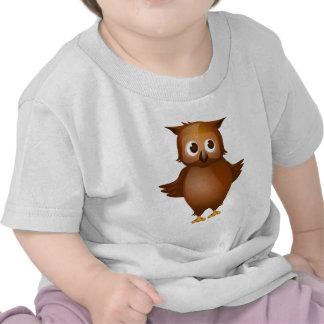 Fondo Editable - búho lindo de Brown Camisetas