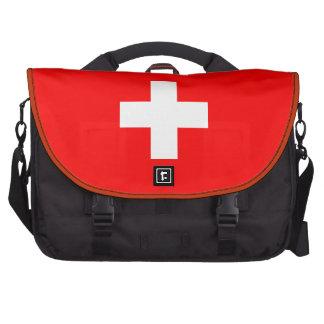 Fondo Editable, la bandera de Suiza Bolsas Para Portatil