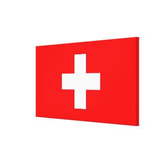 Fondo Editable, la bandera de Suiza Impresiones En Lienzo Estiradas