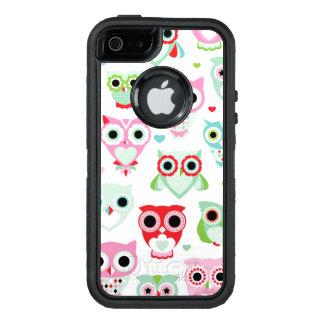 fondo en colores pastel del búho del color del funda OtterBox defender para iPhone 5