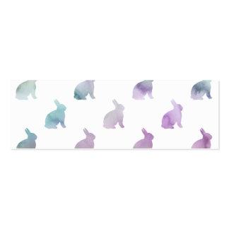 Fondo en colores pastel púrpura azul del conejito tarjetas de visita mini