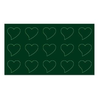 Fondo en forma de corazón verde de la tarjeta de v