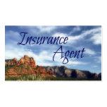 Fondo escénico del desierto del agente de seguro plantilla de tarjeta personal