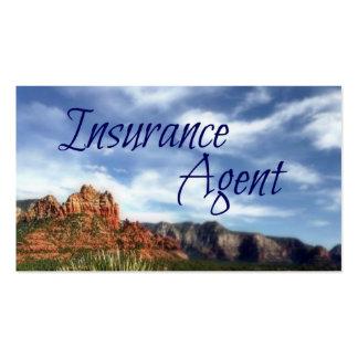 Fondo escénico del desierto del agente de seguro tarjetas de visita