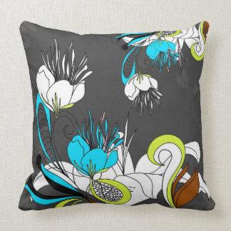 Fondo exótico colorido del gris de las flores almohadas
