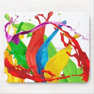 Fondo feliz del blanco de Mousepad de los colores