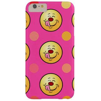 Fondo feliz del personalizar del smiley y de los funda barely there iPhone 6 plus