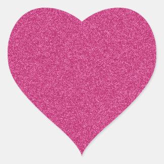 Fondo femenino hermoso del efecto del brillo de pegatina en forma de corazón