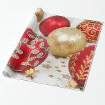 Fondo festivo de los ornamentos del navidad del