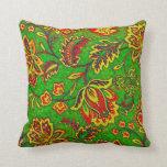 Fondo Flor-Verde retro colorido de Orante Almohada