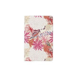 Fondo floral 3 cuaderno de bolsillo moleskine