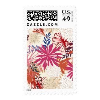 Fondo floral 3 timbre postal