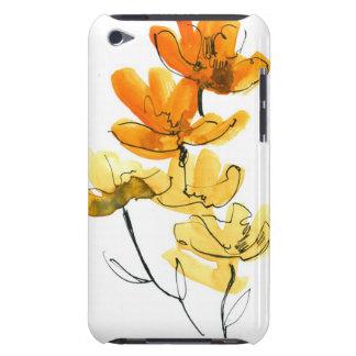 Fondo floral abstracto barely there iPod cárcasa