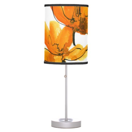 Fondo floral abstracto lámpara de mesa