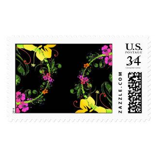 Fondo floral abstracto oscuro franqueo