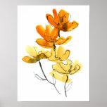 Fondo floral abstracto póster