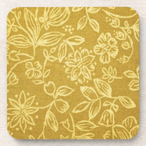 Fondo floral amarillo posavasos