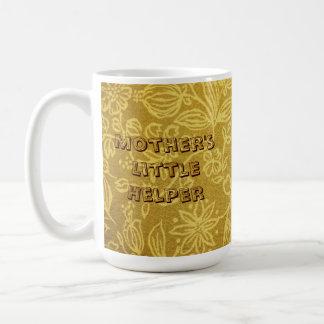 Fondo floral amarillo taza de café