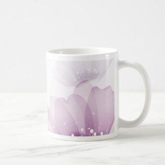 Fondo floral colorido taza de café