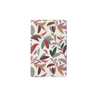 Fondo floral cuaderno de bolsillo moleskine