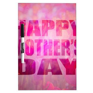 Fondo floral de madres del texto feliz del día pizarra