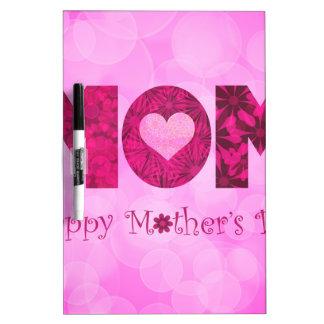 Fondo floral de madres del texto feliz del día pizarras