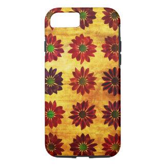 Fondo floral del amor del Grunge con las flores Funda iPhone 7