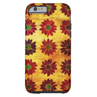 Fondo floral del amor del Grunge con las flores Funda Resistente iPhone 6