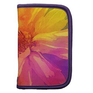 Fondo floral del arco iris del vintage del arte organizador