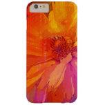 Fondo floral del arco iris del vintage del arte funda de iPhone 6 plus barely there