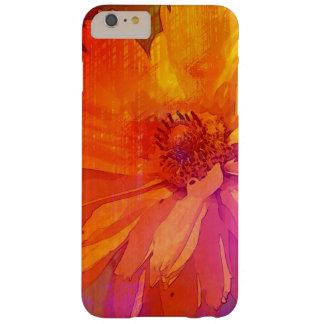 Fondo floral del arco iris del vintage del arte funda para iPhone 6 plus barely there
