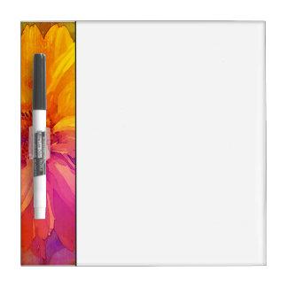 Fondo floral del arco iris del vintage del arte pizarra blanca