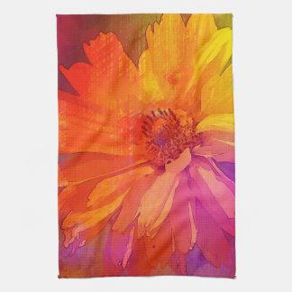Fondo floral del arco iris del vintage del arte toallas de mano