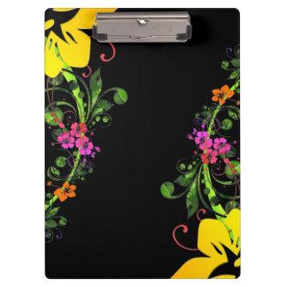 Fondo floral del hibisco hawaiano abstracto oscuro