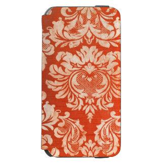 Fondo floral del papel pintado del vintage funda billetera para iPhone 6 watson