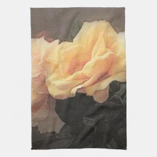 fondo floral del vintage del arte en colores en co toalla de mano