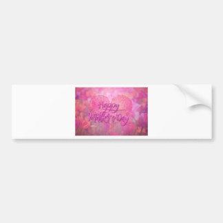 Fondo floral feliz del día de madres pegatina para auto