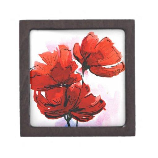 Fondo floral pintado extracto 2 cajas de regalo de calidad