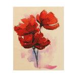 Fondo floral pintado extracto 2 cuadros de madera