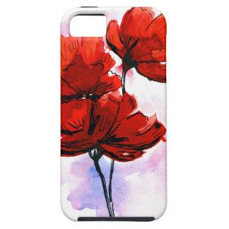 Fondo floral pintado extracto 2 iPhone 5 funda