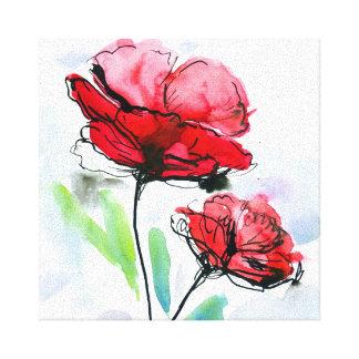 Fondo floral pintado extracto 2 impresión en lona estirada