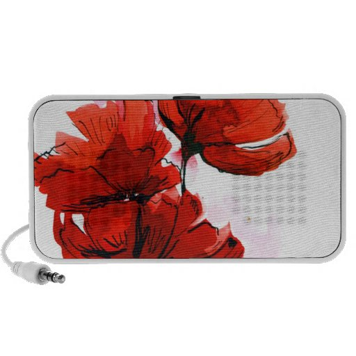 Fondo floral pintado extracto 2 iPod altavoz