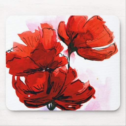 Fondo floral pintado extracto 2 alfombrilla de ratón
