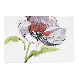 Fondo floral pintado extracto 3 salvamanteles