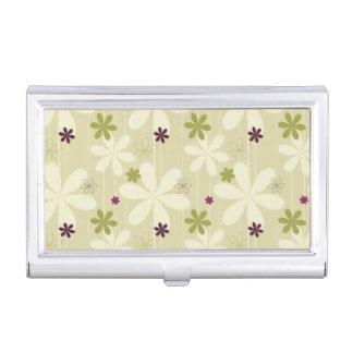 Fondo floral retro cajas de tarjetas de presentación