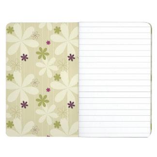 Fondo floral retro cuaderno